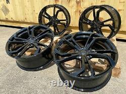 18 Golf Gti Tcr Reifnitz Style Alloy Wheels Gloss Black Vw Golf R Mk5 Mk6 Mk7