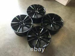 18 Golf R Pretoria Style Jantes En Alliage Noir Brillant Convient Volkswagen Mk5 Mk6 Mk7