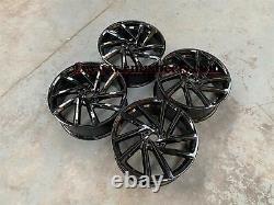 18 Golf R Spielberg Style Alloy Roues Gloss Black Vw Golf Mk5 Mk6 Mk7 Audi A3