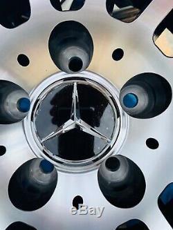 18 Mercedes Amg Turbine Style Roues En Alliage Noir / Poli Mercedes Classe C W205