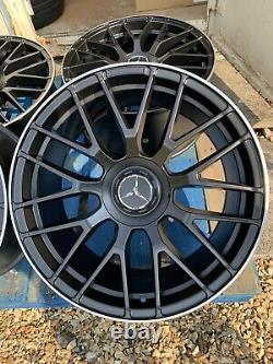 18 Mercedes C63s Amg Style Alliage Roues Seulement Noir / Pol Mercedes Classe A W177