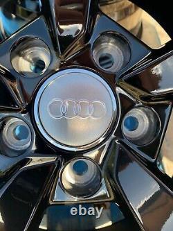 18 Nouvelles Roues En Alliage De Style Rs3 Uniquement Noir / Poli Pour S'adapter Audi A3 (2004-onwards)