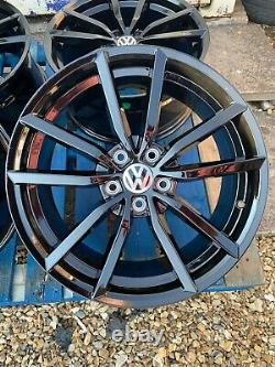 18 Pretoria Golf R Style Alloy Wheels Only Gloss Black Pour Volkswagen Caddy
