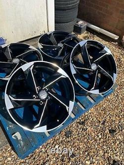 18 Roues En Alliage Twist Style Ttrs Seulement Noir/poli Pour S'adapter À Audi Tt Mk2 (06-on)