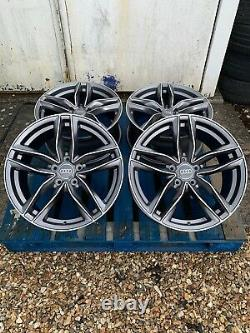 18 Rs6 Style Alloy Wheels Only Satin Grey/diamond Cut Pour S'adapter Audi A6 (c7 & C8)
