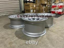 18 Strom Str2 Style Alliage Roues Massive Concave Quartz Silver Bmw 5 6 Series