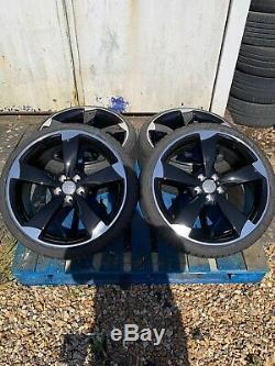 18 Ttrs Bras Du Rotor En Alliage De Style Roues Et Pneus Noir / Diamond Cut Pour Adapter Audi A1