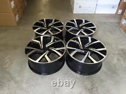 18 Vw Golf Clubsport Style Alliage Roues Gloss Black Usiné Mk5 Mk6 Mk7 Mk7.5