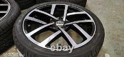 18 Vw Golf Jurva Style Alliage Roues+tyres Vw Golf Mk5 Mk6 Mk7 (x4)