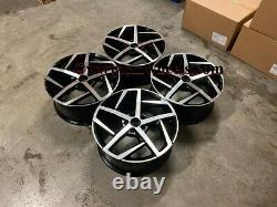 18 X4 Golf Dallas Style Alloy Wheels Gloss Black Machined Vw Mk5 Mk6 Mk7 5x112