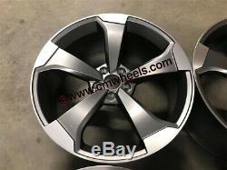 19 2019 Rs3 Ttrs Rotor Style Jantes En Alliage Gun Métal Poli Audi A4 A6 A8