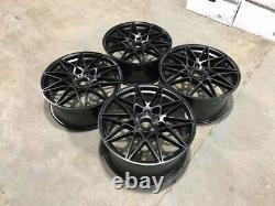 19 666m M3 M4 Competition Style Alloy Wheels Satin Black Bmw F20 F21 F22 F23