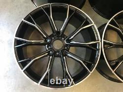 19 669m G30 Style Alloy Wheels Gloss Black Milled Spoke Bmw G30 G31 Série 5
