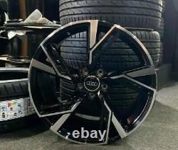 19 Audi 2020 Rs6 Style Gloss Roues En Alliage Noir & 235/35/19 Pneus Audi A3 S3