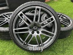 19 Audi A4 S3 Tt Le Mans En Alliage De Style Roue Et Pneus Vw Golf Mk5 Caddy 5x112 £