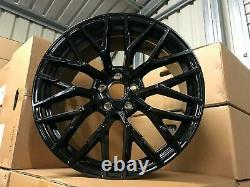 19 Audi R8 V10 Style Alloy Wheels Gloss Black Vw Golf Mk5 Mk6 Mk7 Mk7.5