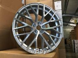 19 Audi R8 V10 Style Jantes En Alliage D'argent Poli Audi A4 Usinées A6 A8 5x112