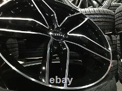 19 Audi Rs6 Style Gloss Jantes En Alliage Noir Et Pneus 235/35/19 Audi A3 S3