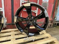 19' Audi Ttrs Rotor Style Gloss Noir Alliage Poli Roues 5x112 Et35 A4