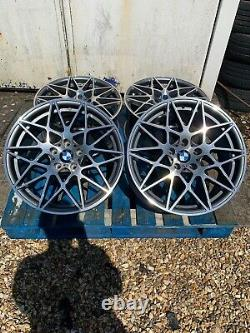 19 Bmw 666m Competition Style Alloy Wheels Only G+p Pour S'adapter Bmw Série 5 F10 F11
