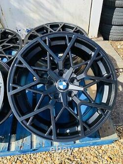 19 Bmw 795m Style Satin Black Alliage Jantes Seulement Bmw 3 Series E90 E91 E92 E93