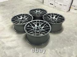 19 Csl Deep Concave Style Alloy Wheels Gloss Gun Metal Bmw E90 E91 E92 E93