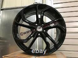 19 Golf Gti Tcr Reifnitz Style Alloy Wheels Gloss Black Vw Golf Mk5 Mk6 Mk7 Gtd
