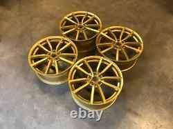 19 Golf R Pretoria Style Alloy Wheels Bbs Gold Vw Golf Mk5 Mk6 Mk7 Mk7.5