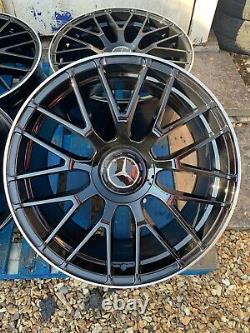 19 Mercedes Amg C63s Style Jantes En Alliage Noir Brillant / Pol Mercedes Classe C W205