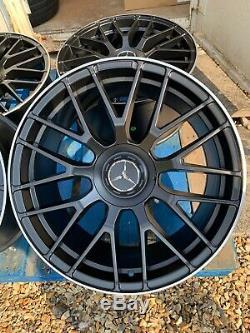 19 Mercedes Amg En Alliage De Style C63s Roues Seulement Noir / Pol Mercedes Classe E W212