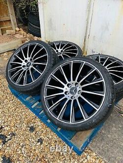 19 Mercedes Amg Turbine Style Alloy Wheels & Tyres B+p Mercedes Classe E W213
