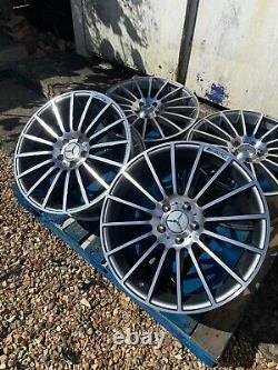 19 Mercedes C63 Multi-spoke Style Alloy Wheels Only G+p Mercedes Classe C W204