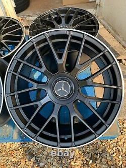 19 Mercedes C63s Amg Style Alliage Roues Seulement Noir / Pol Mercedes Classe C W205