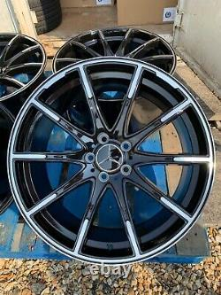 19 Mercedes Fluotournage Brabus Style Roues En Alliage B + P Mercedes C-class W205