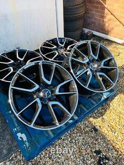 19 Mercedes New C43 Amg Style Alloy Wheels Only B+p Pour Mercedes Classe C W205