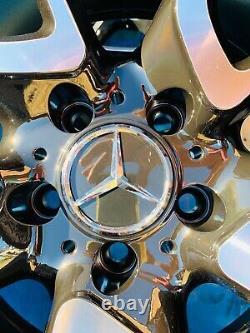 19 Mercedes Nouvelles Roues En Alliage De Style Amg Uniquement Noir/pol Pour Mercedes Classe C W204
