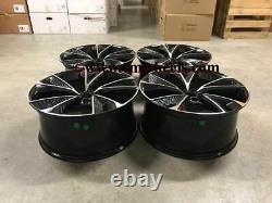 19 Nouveau Modèle D'alliage Rs7 2020 Roues Noir Machined Audi A3 A4 A6 Vw Golf Caddy