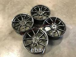 19 Nouvelle Ford Focus Rs Mk3 Style Alloy Wheels Gun Metal Focus St Rs 5x108 63.4