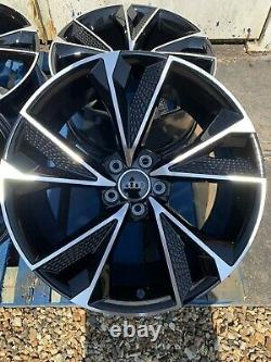 19 Nouvelles Roues En Alliage De Style Rs7 2020 Seulement Noir/ Poli Pour S'adapter Audi A4 (b8 & B9)