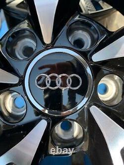 19 Nouvelles Roues En Alliage De Style Rs7 Seulement Gloss Noir / Diamant Coupé Pour S'adapter Audi A5