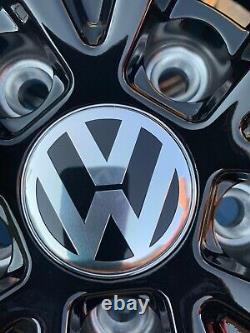 19 Pretoria Golf R Style Alliage Roues Seulement Noir Brillant Pour S'adapter Volkswagen Golf