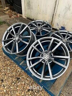 19 Pretoria Golf R Style Alloy Wheels Only Gunmetal Grey Pour S'adapter Volkswagen Golf