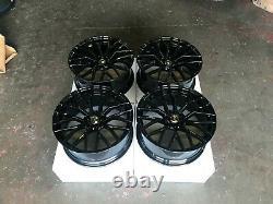 19 R8 Style Alliage Roues Gloss Noir S'adapte Audi A4 A5 A6 A7 A8 Tt Q5 5x112 Nouveau