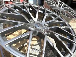19 R8 V10 Style Alliage Roues Gunmetal Convient Audi A3 A4 A6 A7 Tt Golf Caddy Leon
