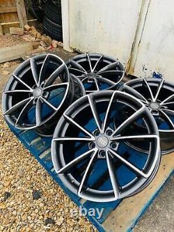 19 Rs4 Style Alliage Roues Uniquement Gunmetal Gris/diamond Coupe Pour S'adapter Audi A5