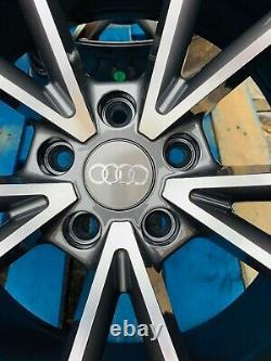 19 Rs4 Style Jantes En Alliage Seulement Gunmetal Gris / Poli Pour Audi A4 (b8 Et B9)