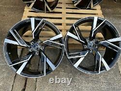 19 Rs5 Style Alloy Whoels Fits Audi A4 A6 Black Polished (fits Audi) Brand New