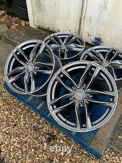 19 Rs6 Style Alloy Wheels Only Satin Grey/diamond Cut Pour S'adapter Audi A4 (b8 & B9)