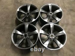 19 Ttrs Rotor Concave Style Roues En Alliage Satiné Gun Métal Poli Audi A4 A6 A8