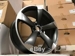 19 Ttrs Rotor Deep Concave Style Jantes En Alliage Satin Gun Audi A4 A6 A8 Métal